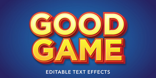 Spiel über bearbeitbare texteffekte