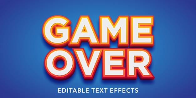 Spiel über bearbeitbare texteffekte Premium Vektoren