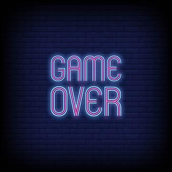 Spiel über leuchtreklamen text
