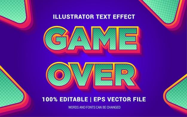 Spiel über text-effekte-stil