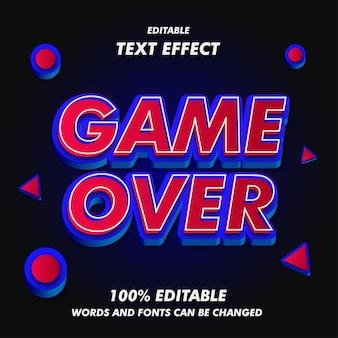 Spiel über text-effekte Premium Vektoren