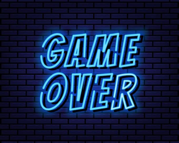 Spiel über zeichen neonstil