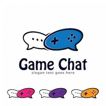 Spiel und chat logo abbildung.