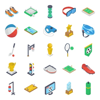 Spielausrüstung isometric pack