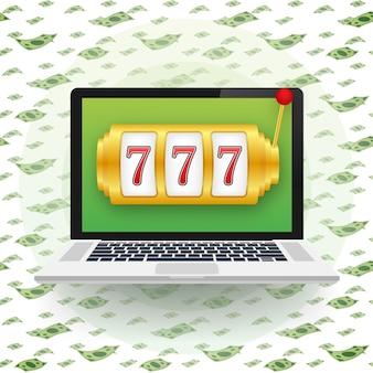 Spielautomat mit glücklichem siebener jackpot