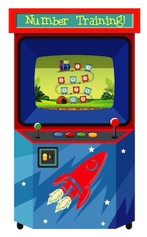 Spielautomat zum zählen von zahlen auf isoliertem hintergrund