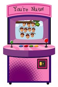 Spielautomat zum zählen von zahlen auf weiß