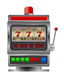 Spielautomatensymbol isoliert auf weiß