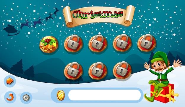 Spieldesign mit elf und geschenk