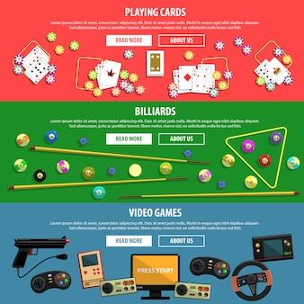 Spiele-banner-set