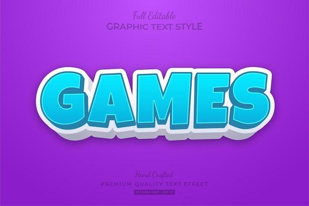 Spiele cartoon bearbeitbarer texteffekt schriftstil