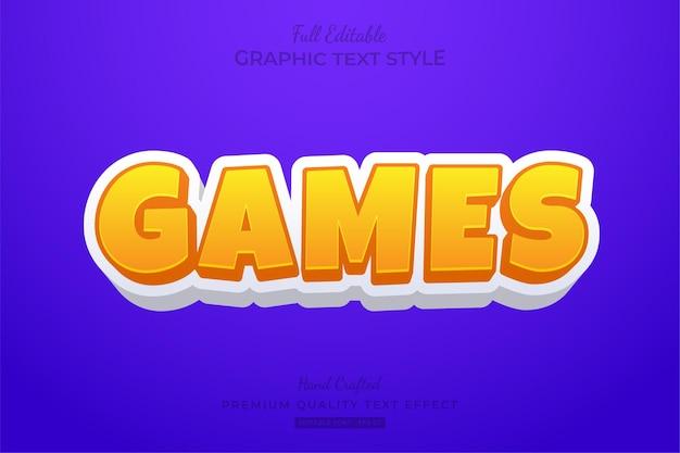 Spiele cartoon bearbeitbarer texteffekt-schriftstil
