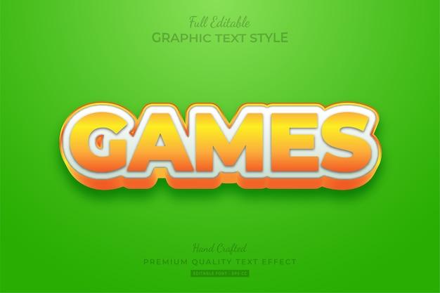 Spiele cartoon bearbeitbarer textstil-effekt