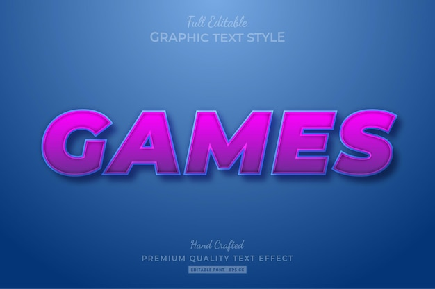 Spiele cartoon editable text effect schriftstil
