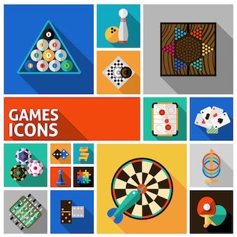 Spiele icons set