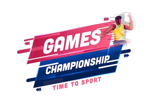 Spiele-meisterschaft, zeit zum sportkonzept mit gesichtslosem athleten-mann