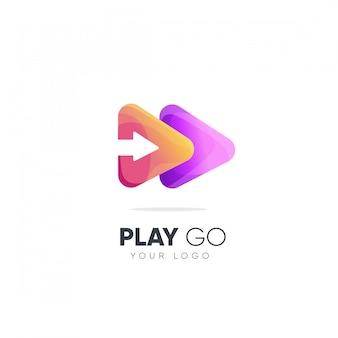 Spielen gehen logo-design