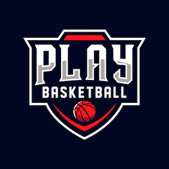 Spielen sie basketball logo sports