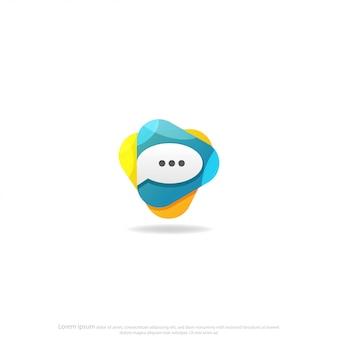 Spielen sie chat logo design vector