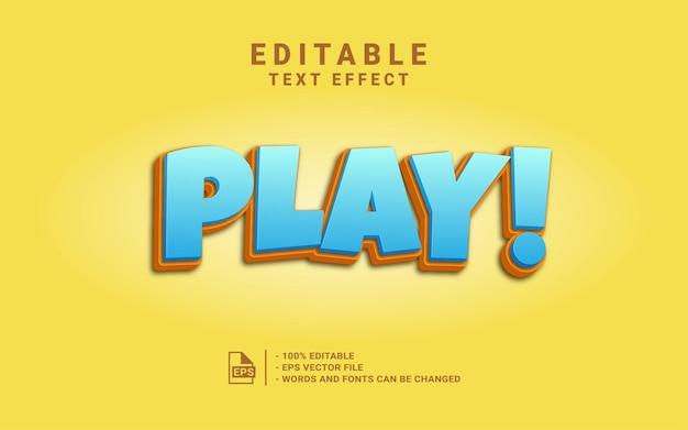 Spielen sie den 3d-textstil-effekt