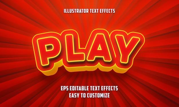 Spielen sie den bearbeitbaren texteffektstil
