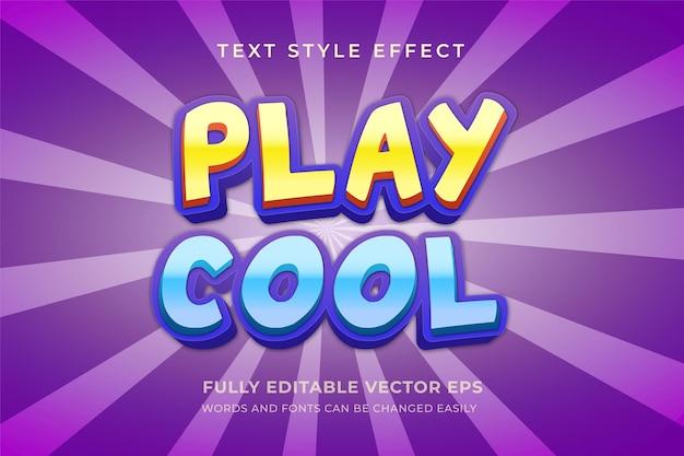Spielen sie den coolen bearbeitbaren mehrfarbigen textstileffekt