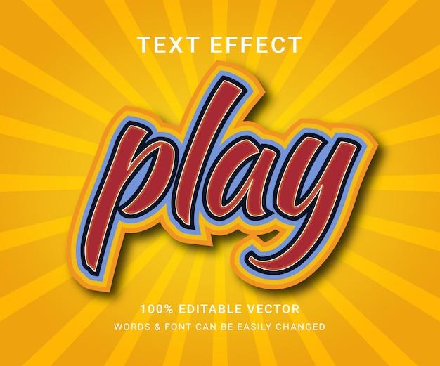Spielen sie den vollständig bearbeitbaren texteffekt