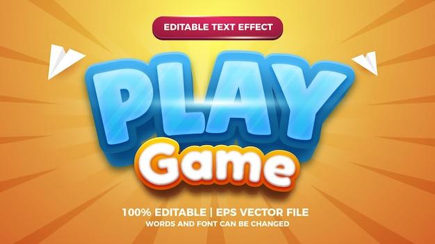 Spielen sie spiel cartoon comic 3d bearbeitbare textstil-effektvorlage
