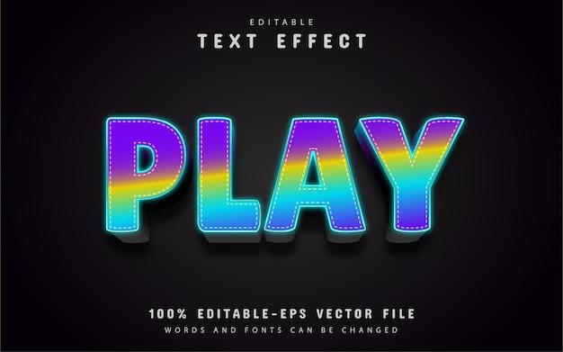 Spielen sie text, bearbeitbaren 3d-texteffekt