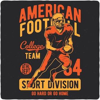 Spieler des amerikanischen fußballs