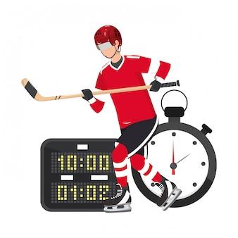 Spieler hockeyausrüstung und ausrüstung