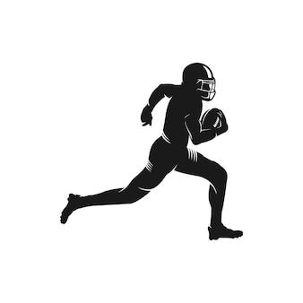 Spieler-schattenbildlogo des amerikanischen fußballs