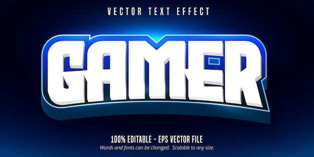 Spielertext, bearbeitbarer texteffekt im e-sport-stil