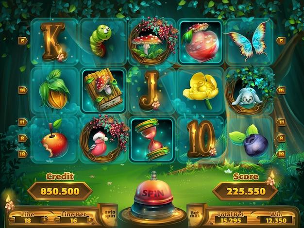 Spielfeld-slots-spiel für die benutzeroberfläche des spiels.