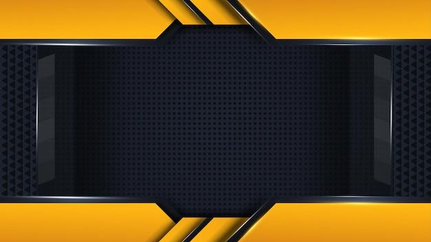 Spielhintergrundvektor form und punkte auf gelb dunkel und schwarz mit abstraktem design frei