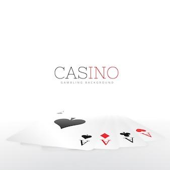 Spielkarte auf weißem hintergrund