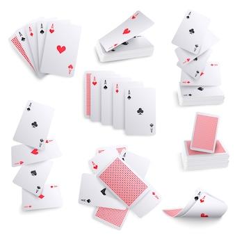 Spielkarten realistische sets