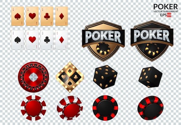 Spielkarten und pokerchips fliegen casino.
