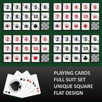 Spielkarten, vollständiger farbsatz