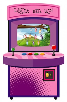 Spielmaschine zum zählen von zahlen auf isoliertem hintergrund