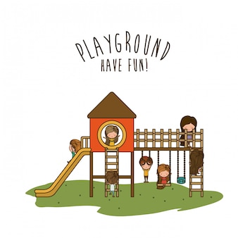Spielplatz illustration.