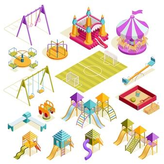 Spielplatz isometrische sammlung