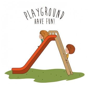 Spielplatzdesign, vektorillustration.