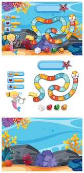Spielschablone eingestellt mit unterwasserspiel