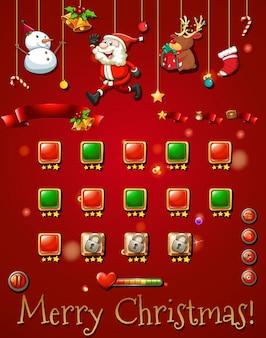 Spielschablone mit christmast gegenständen