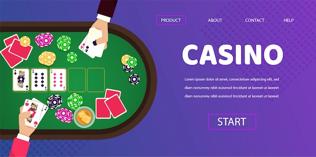 Spieltisch casino spieler man croupier hände