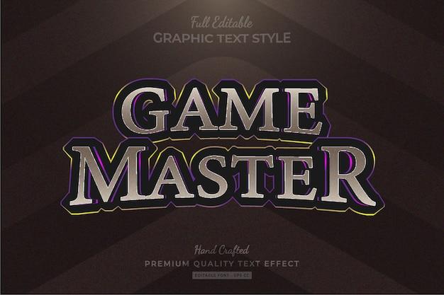Spieltitel fantasy rpg bearbeitbarer premium-texteffekt-schriftstil