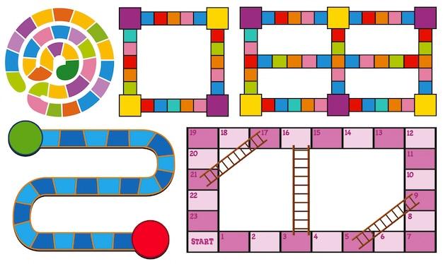 Spielvorlagen in verschiedenen farben