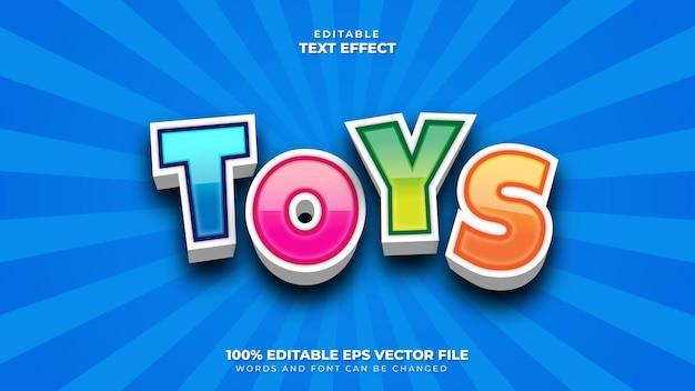 Spielzeug 3d-texteffekt