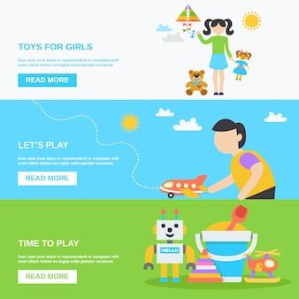 Spielzeug-banner-set